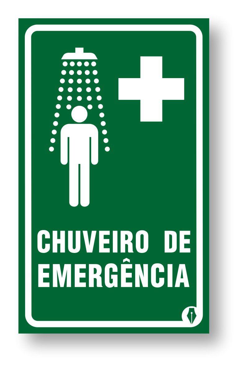 Placa Chuveiro de Emergência