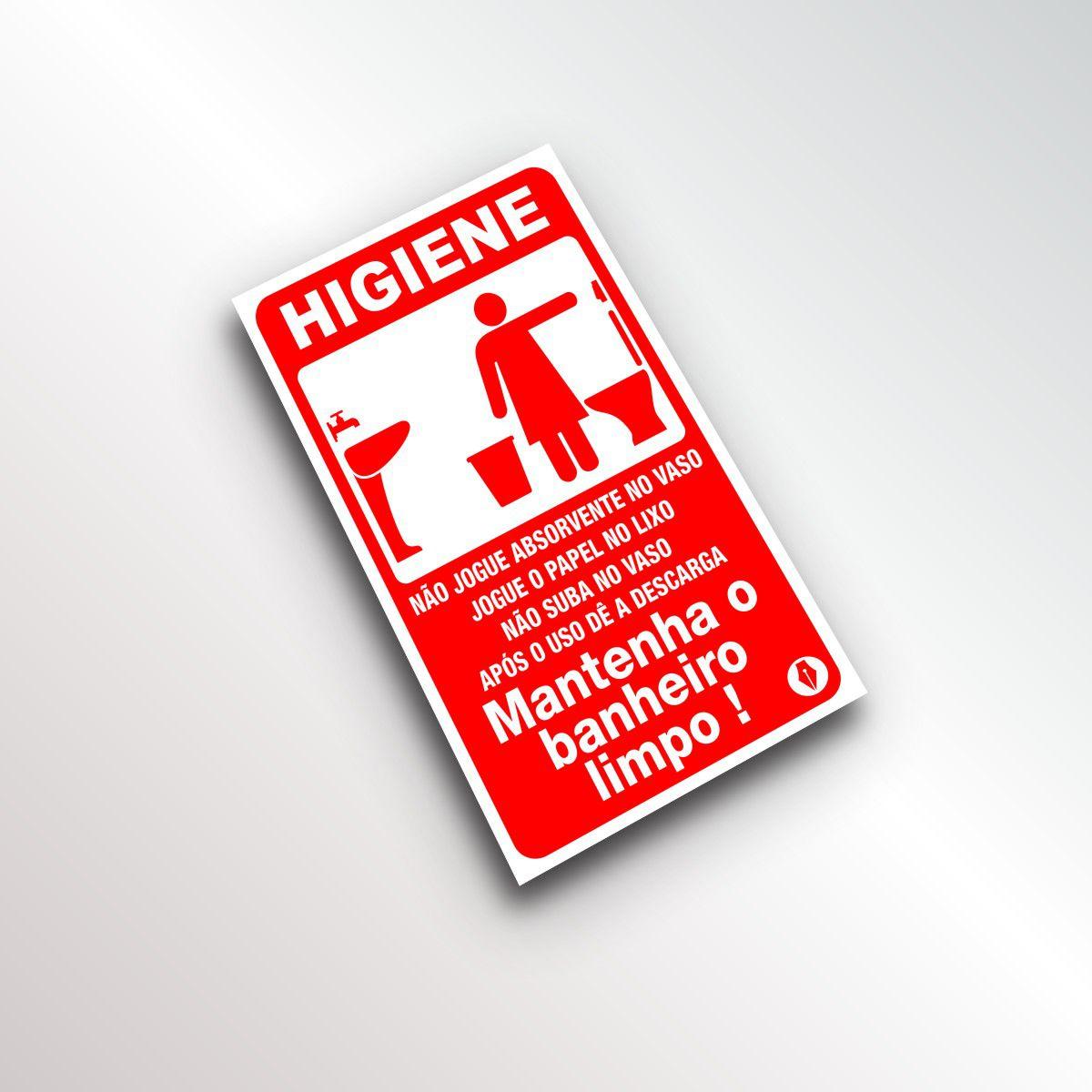 Placa de Higiene Banheiro Feminino