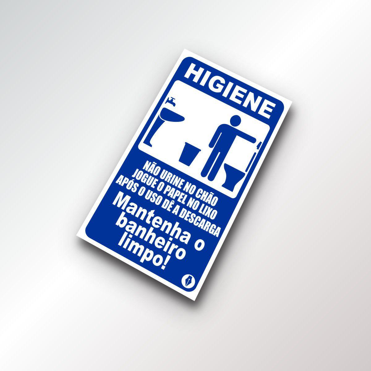 Placa de Higiene Banheiro Masculino