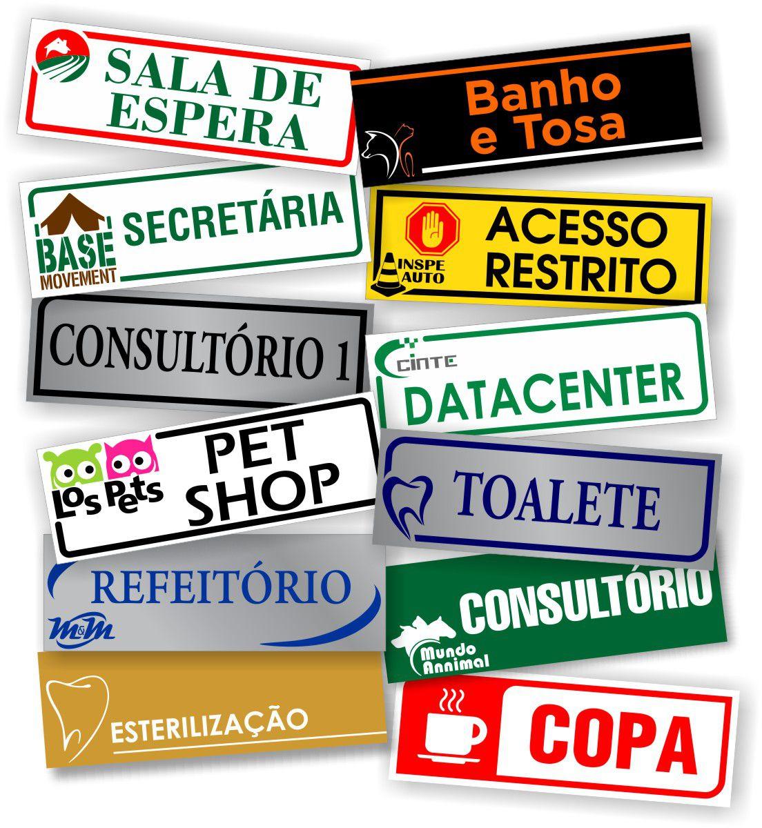 Placa de identificação de sala - Personalizada