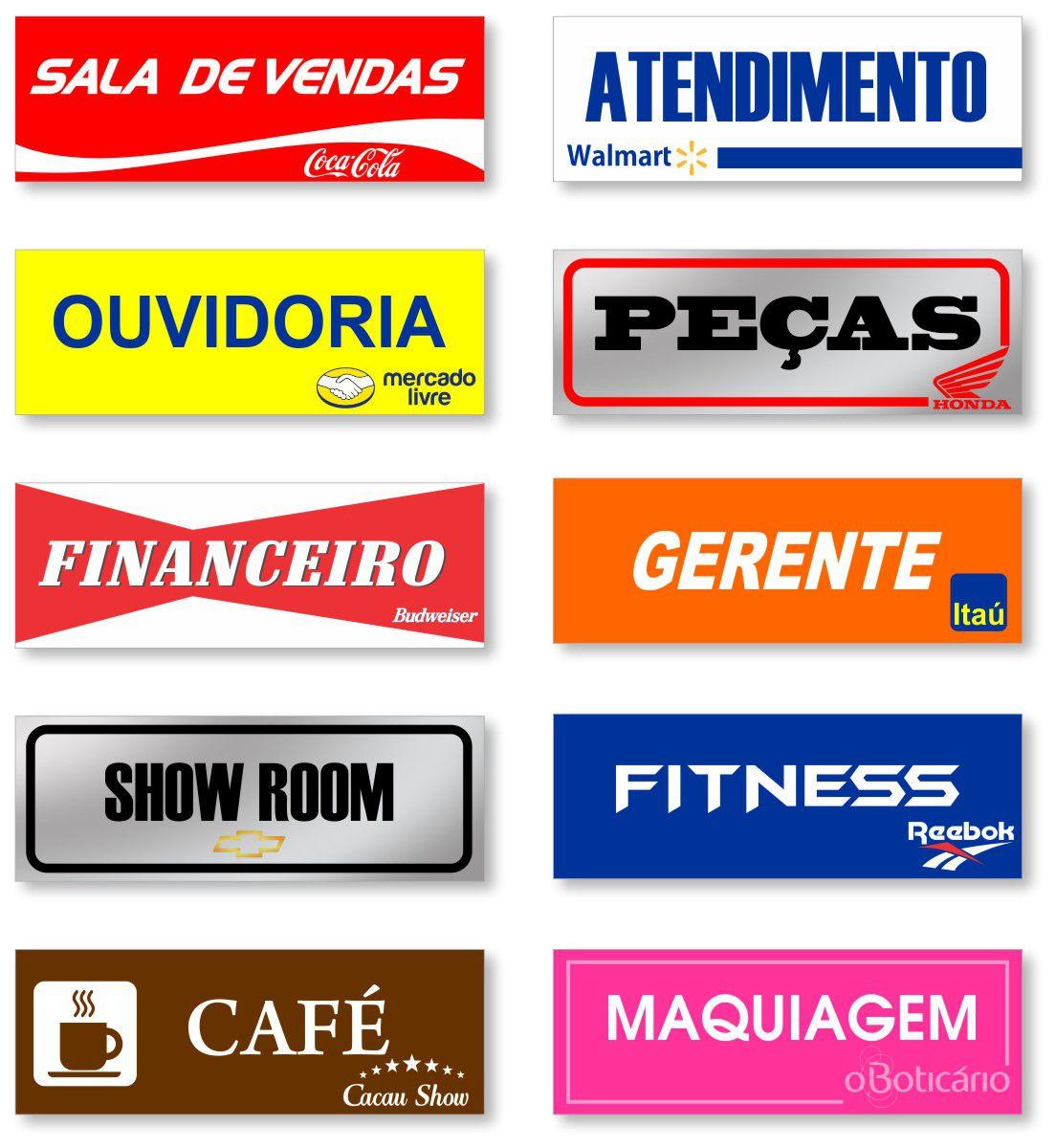 Placa de Sinalização de identificação de sala - Alta Qualidade