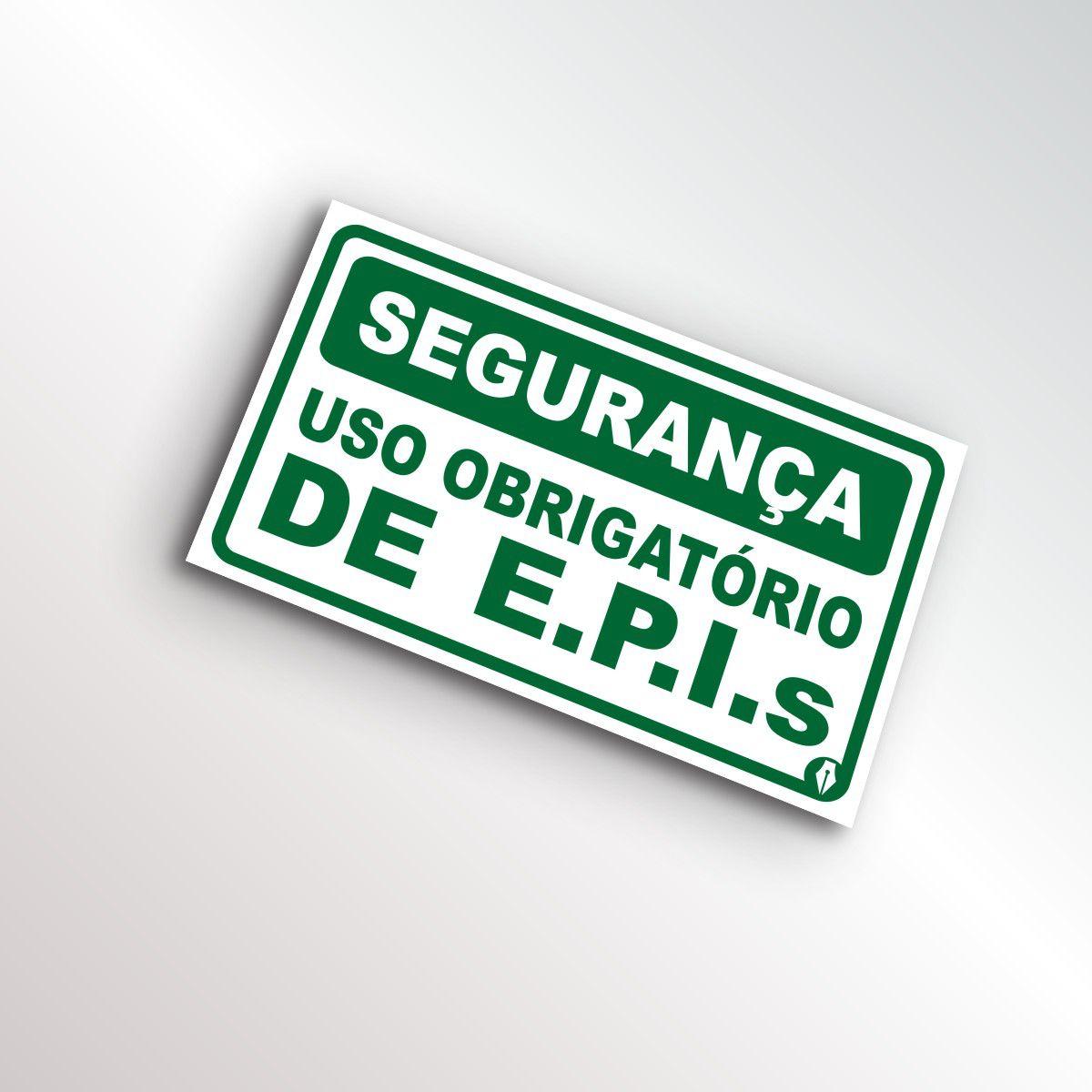 Placa Segurança - Uso Obrigatório de EPIs