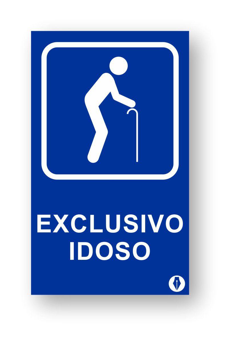 Placa Exclusivo Idosos