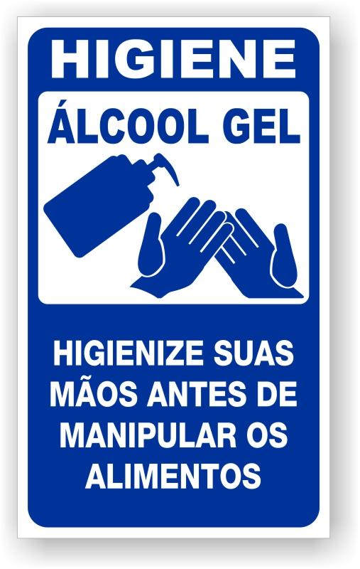 Placa Higiene Álcool Gel
