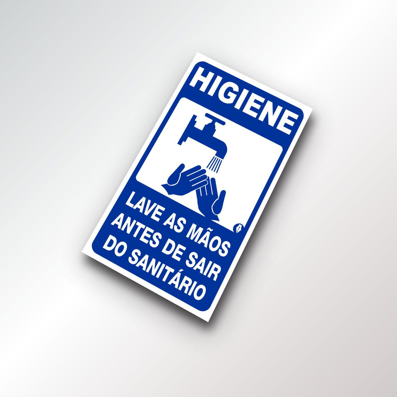 Placa Higiene Lavar as Mãos
