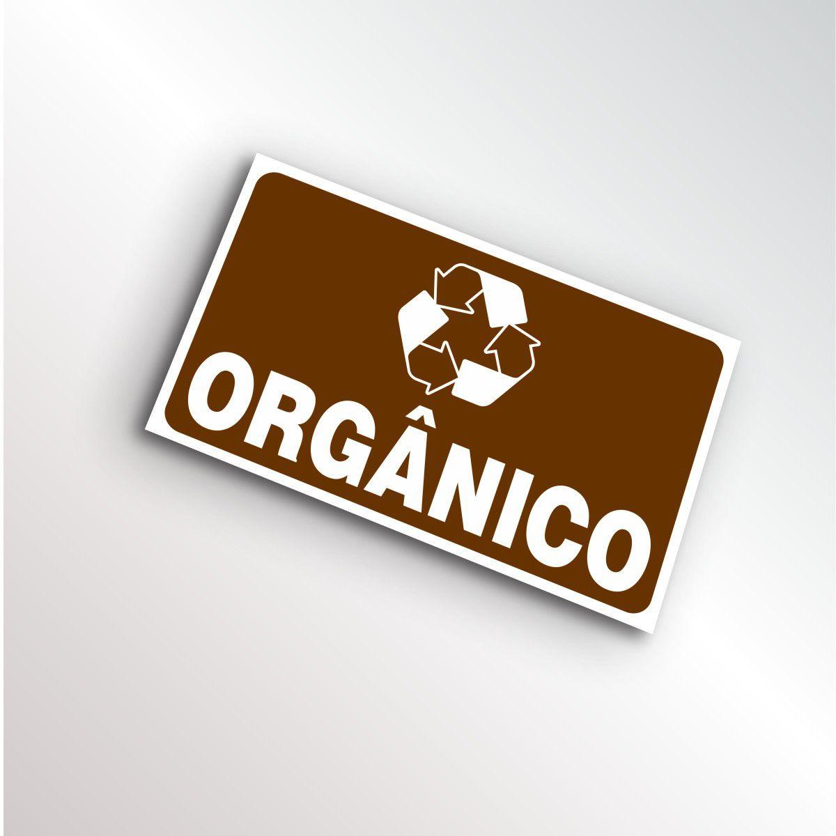 Placa Lixo Reciclável Orgânico