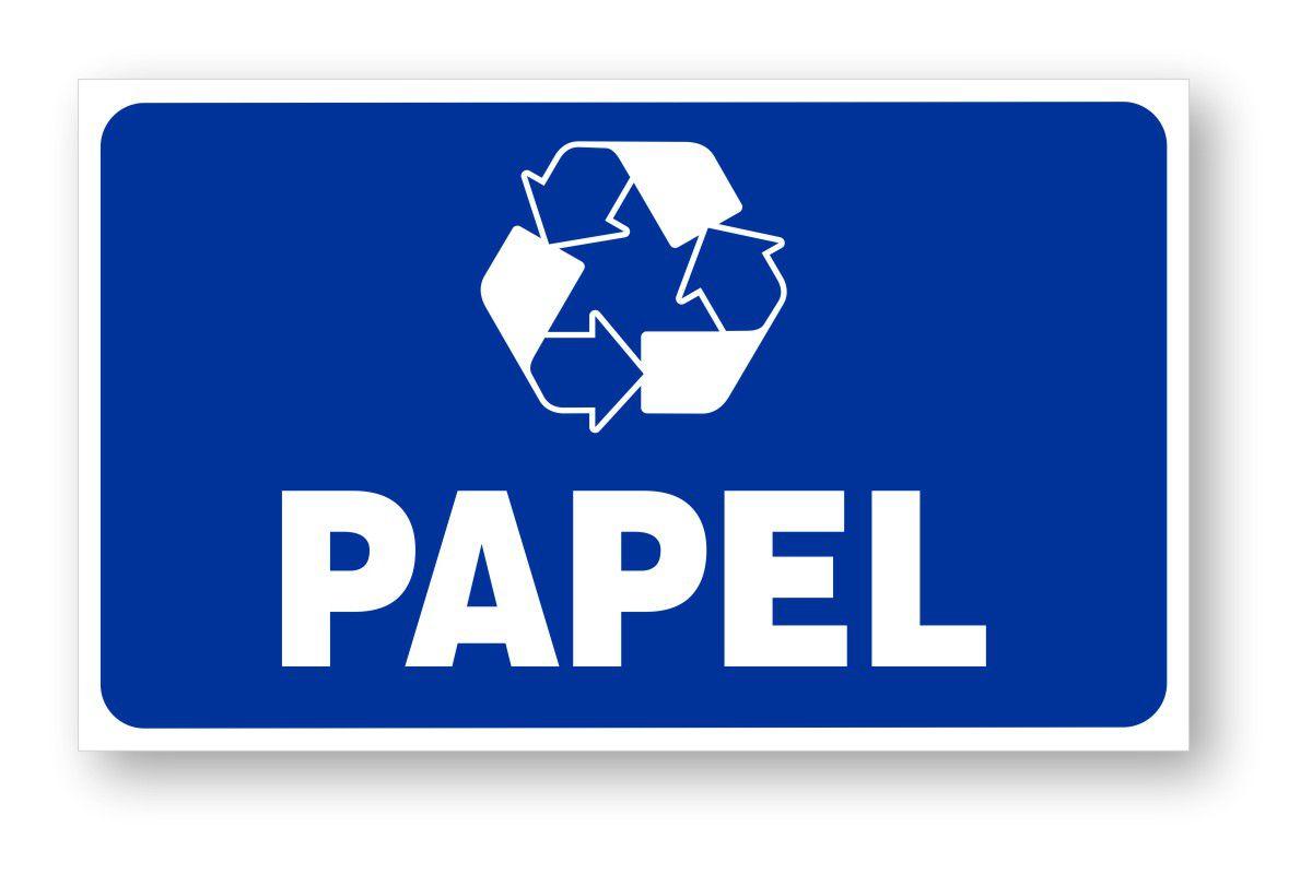 Placa Lixo Reciclável Papel