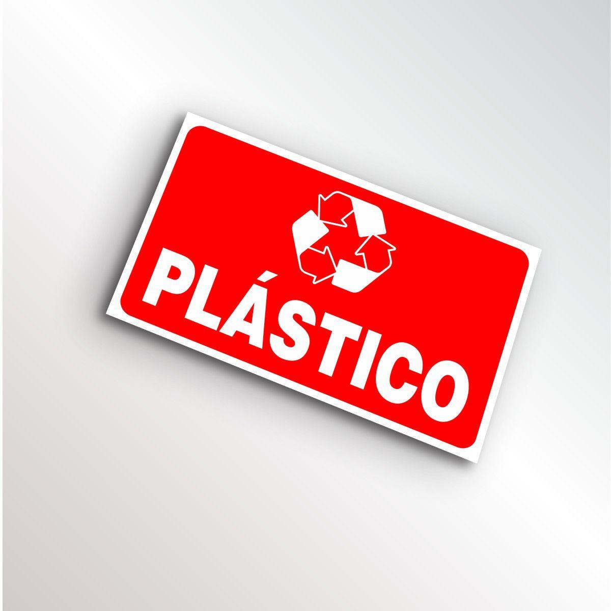 Placa Lixo Reciclável Plástico