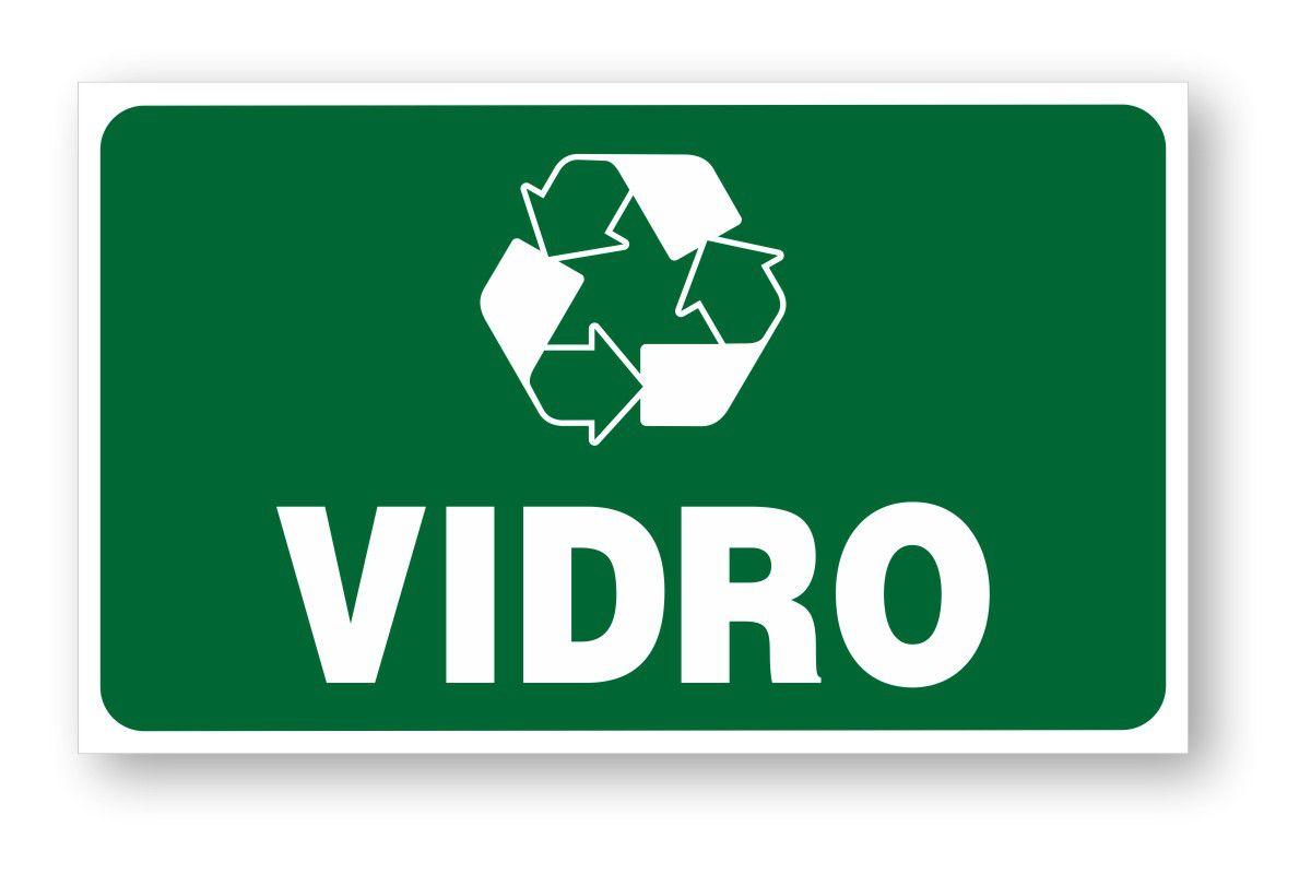 Placa Lixo Reciclável Vidro