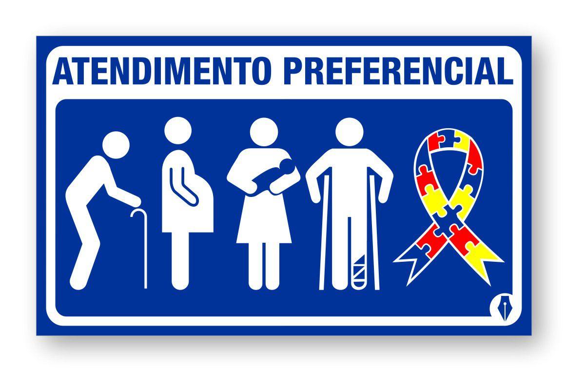 Placa Novo Atendimento Preferencial Com Autismo