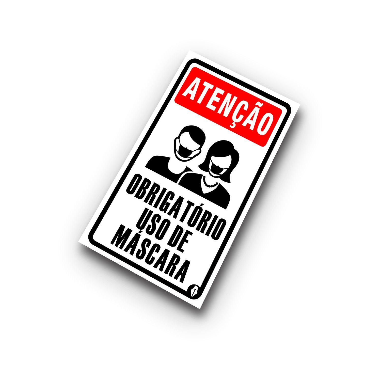 Placa Obrigatório uso de máscara