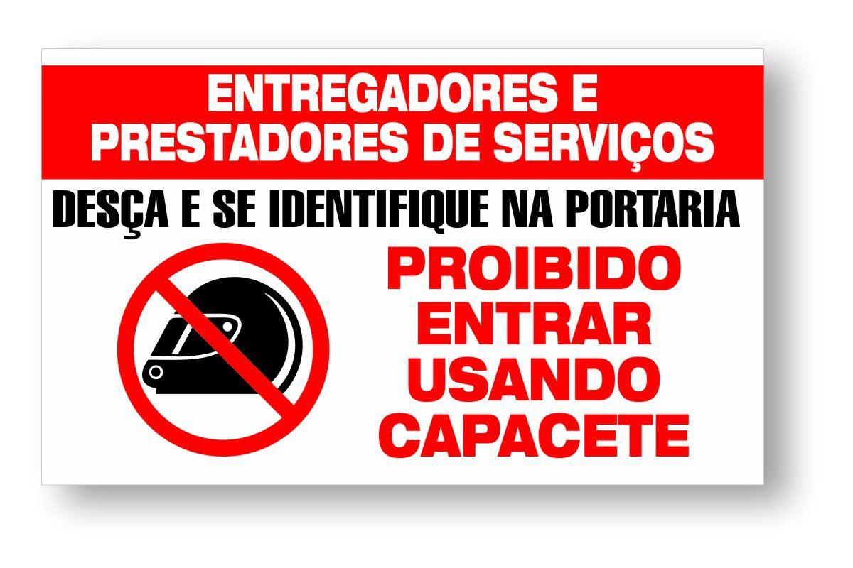 Placa para Entregadores e Prestadores de Serviço - Condomínio