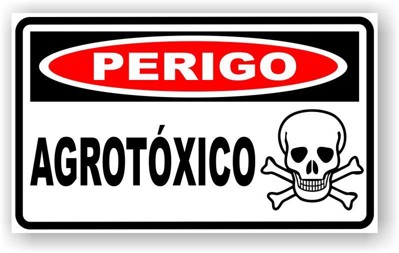 Placa Perigo Agrotóxico