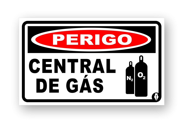 Placa Perigo Central de Gás