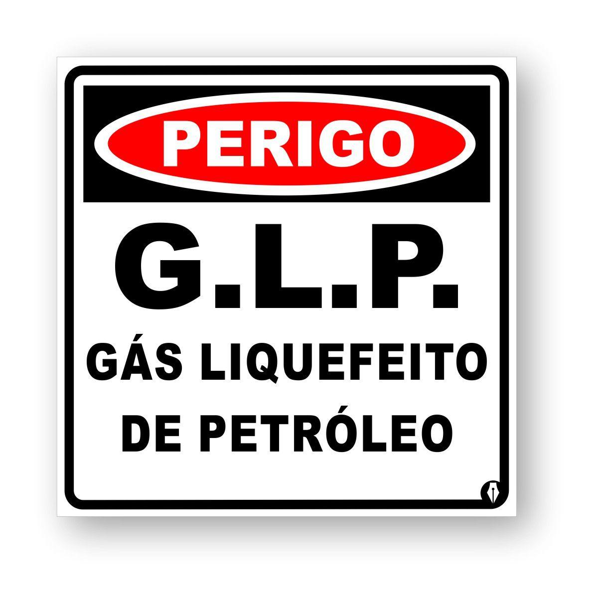 Placa Perigo Gás G.L.P