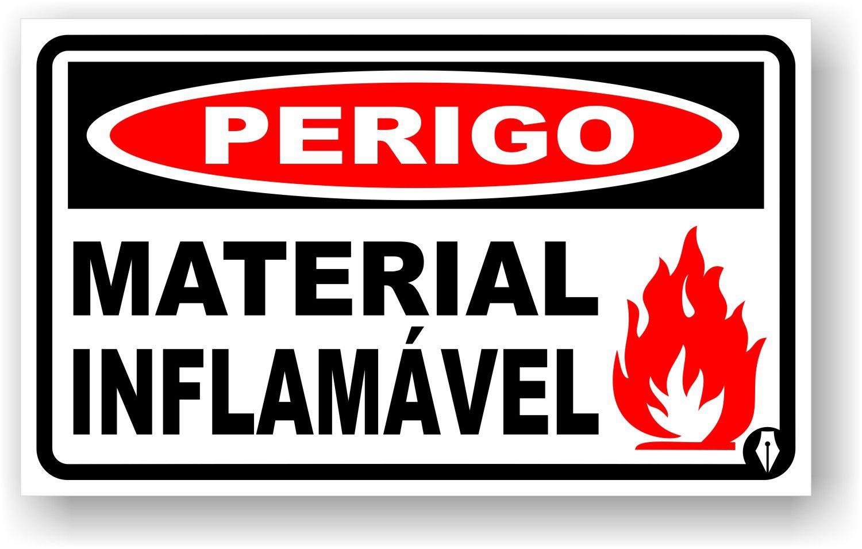 Placa Perigo Material Inflamável
