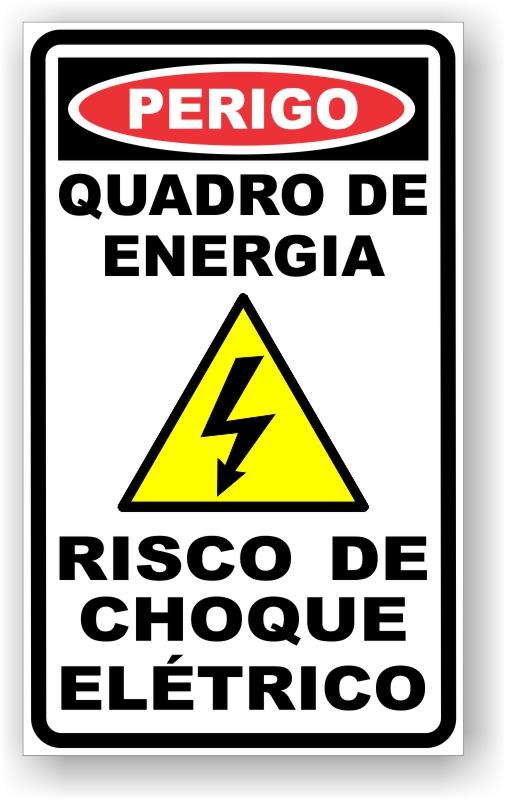 Placa Perigo Quadro de Energia