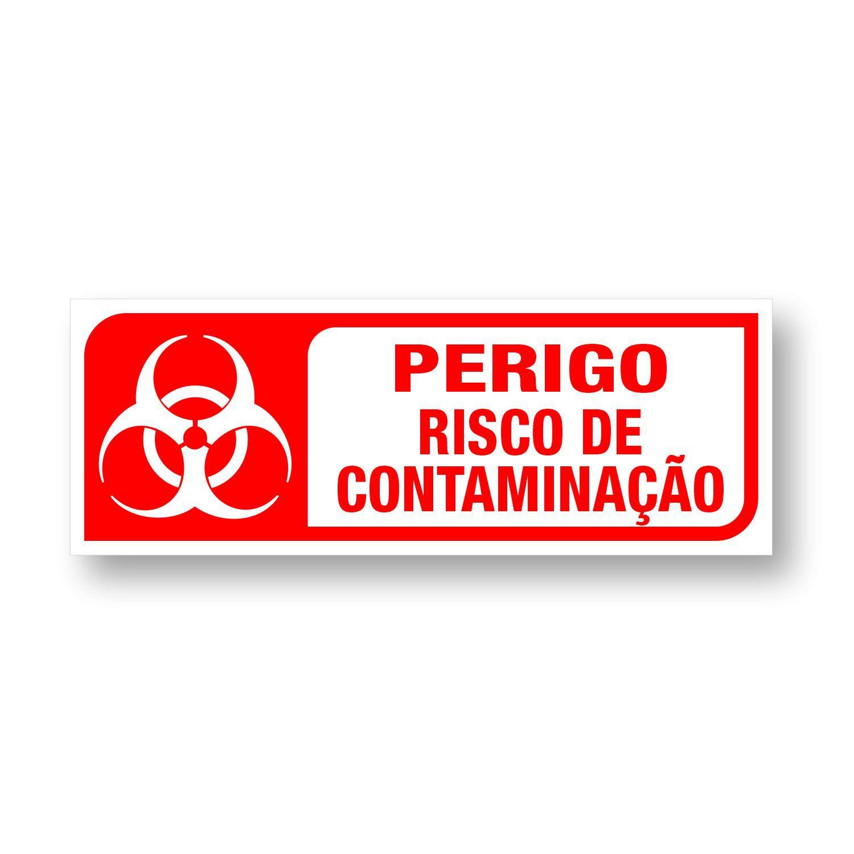 Placa Perigo Risco de Contaminação