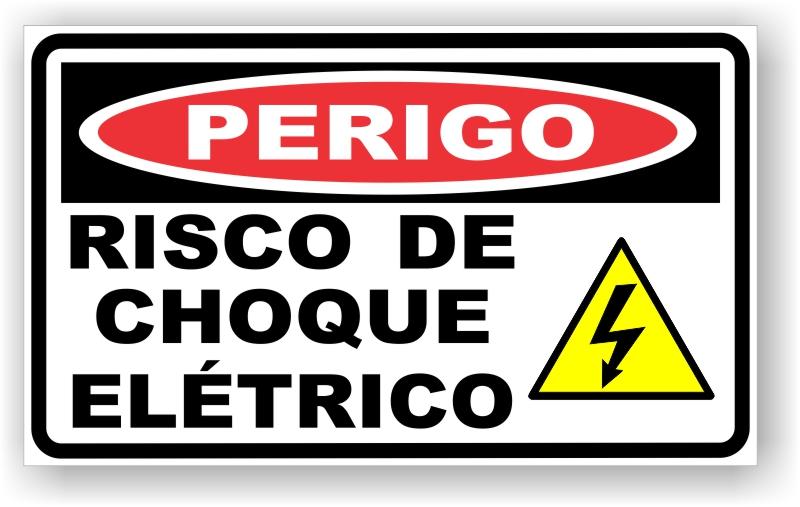 Placa Risco de Choque Elétrico