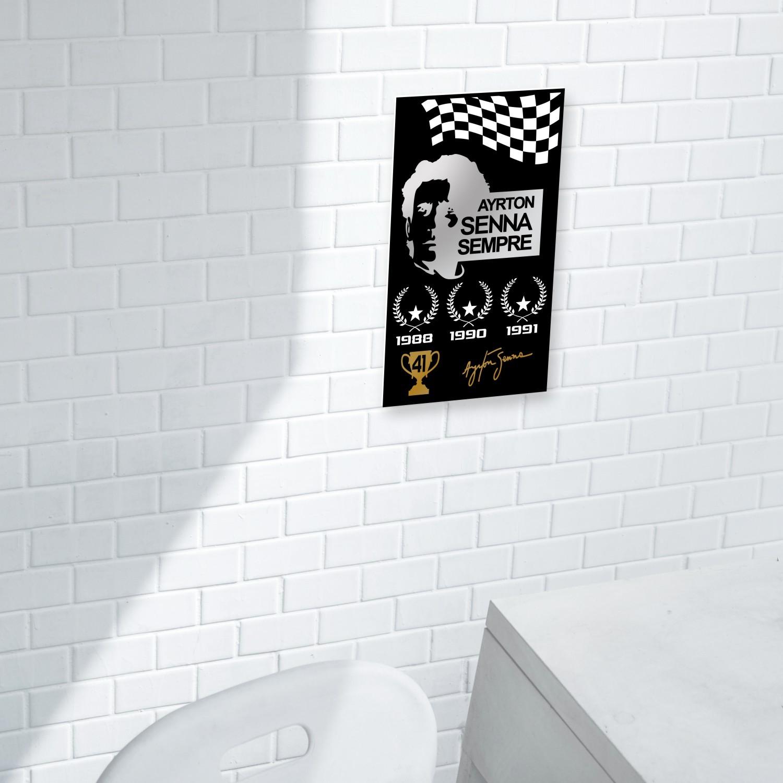 Quadro decorativo - Ayrton Senna Sempre