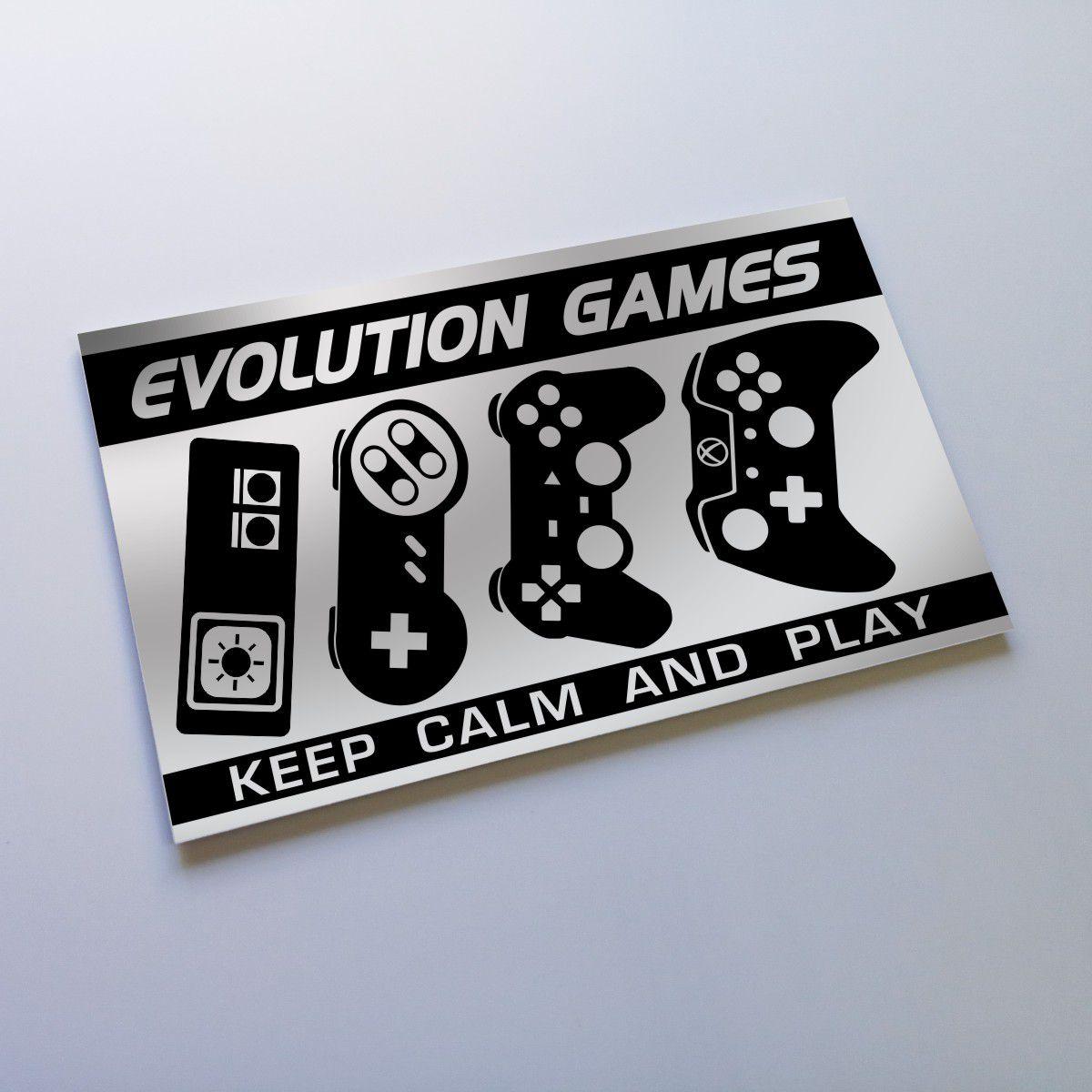 Quadro Decorativo Evolução do Game