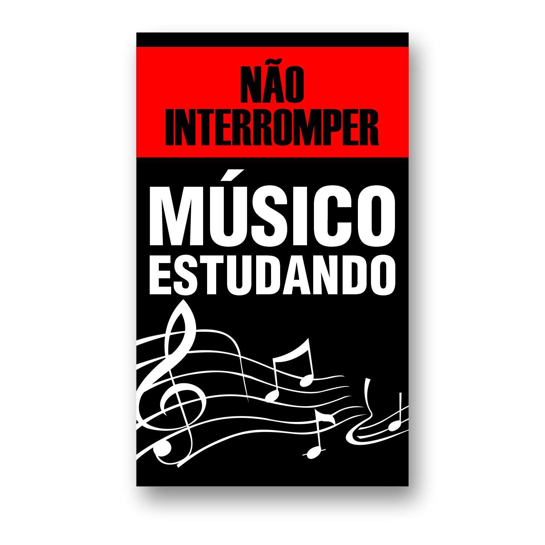 Quadro para Músico - Não Interromper