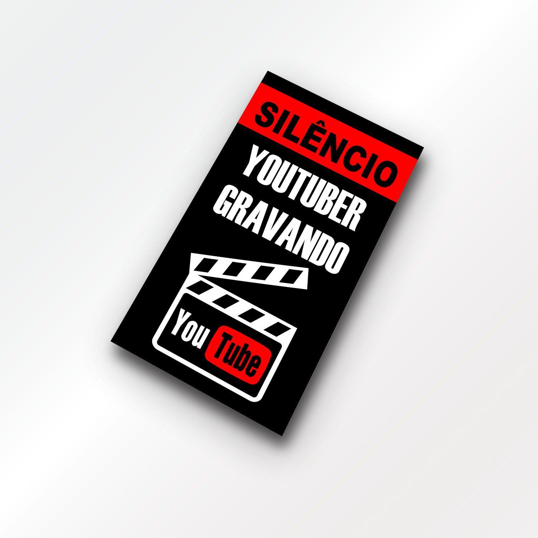 Quadro para Youtuber - Silêncio Gravando
