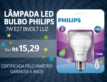 bulbo philips w7 inmetro