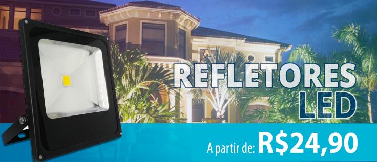 refletores led a partir de r$24,90