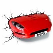 Arandela Infantil 3D para Parede Red Car