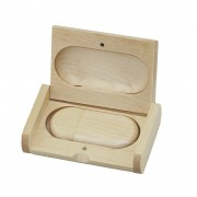 Case Madeira Maple Retangular com Pen Drive Oval Maple
