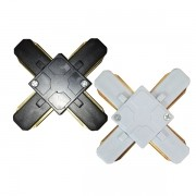 Conector X Para Trilho Eletrificado Preto ou Branco