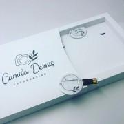 Kit Pen Card Redondo + Case Cartonado p/ foto 10x15 Personalizados
