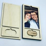 Kit Pendrive Oval 8GB + Case Madeira Foto 10x15  Wood Frame 4
