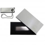 Kit Mini Pen Drive 16GB Slim Giratório + Case Metal Personalizados