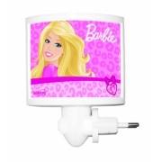 Mini Abajur de Tomada LED Barbie