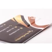 Pen Card Plástico Retangular Grande Branco Personalizado