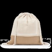 Sacola Sablon Mod Mochila .  100% algodão: 160 g/m². Detalhe em juta. Alças de 65 cm. 370 x 410 mm