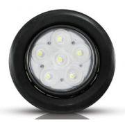 Spot LED 10W Preto Luz Branca Redondo Para Embutir no Solo