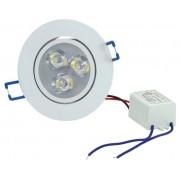 Spot LED 4W Completo Redondo Direcionável Bivolt