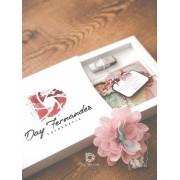 Kit Pen Drive Giratório Metal + Case Cartonado p/ foto 10x15 Personalizados