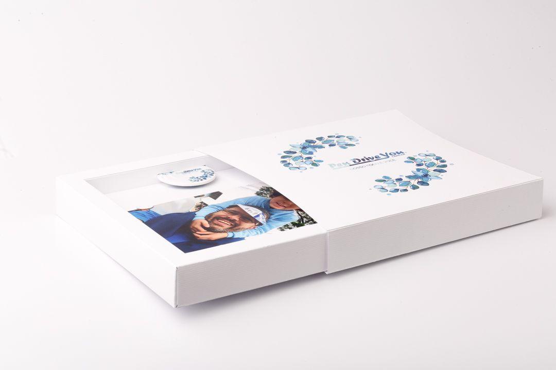 Case Cartonado Branco 10x15 para Pen Card Redondo  Personalizado