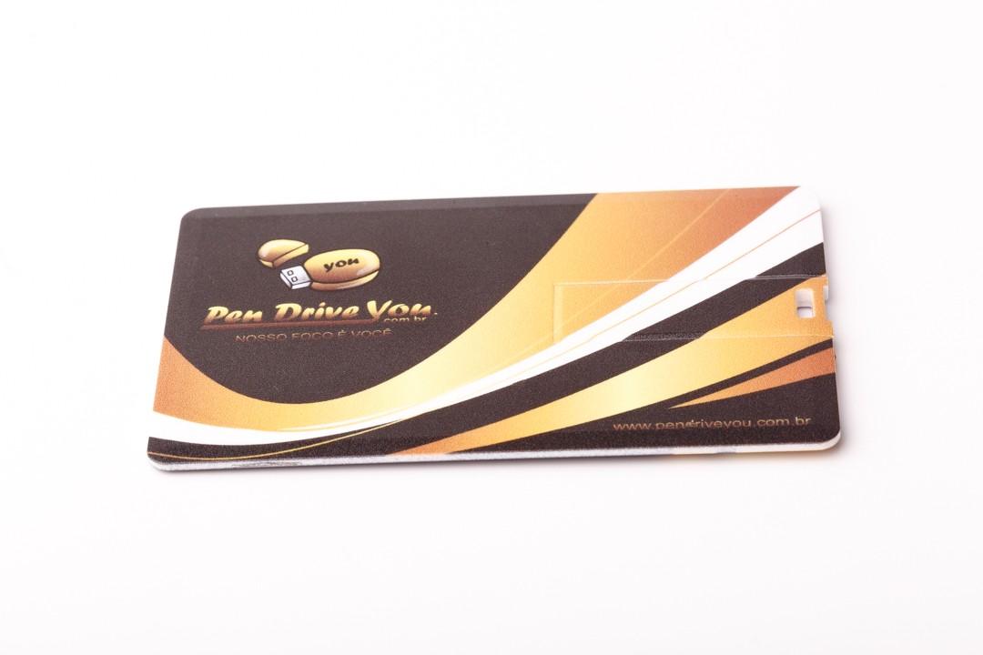 Kit Pen Card 32GB Plástico Retangular + Case Plástico Personalizados