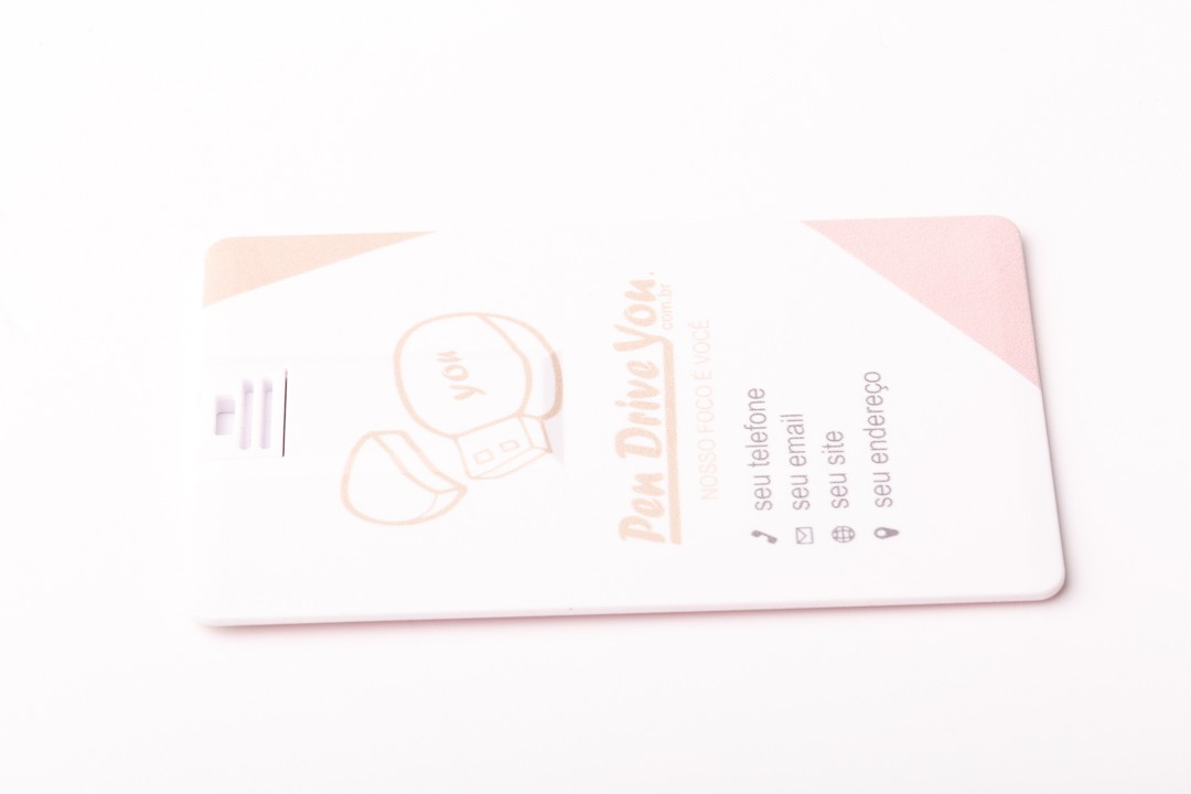 Kit Pen Card 64GB Plástico Retangular + Case Plástico Personalizados