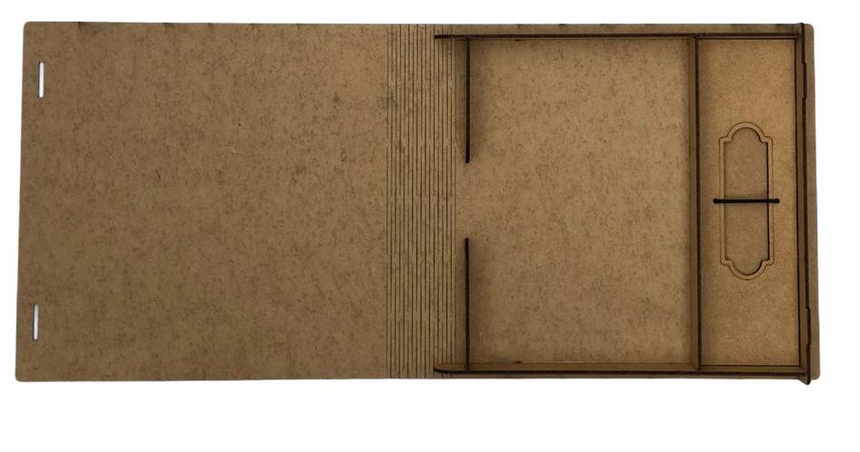 kit Pen Drive Retangular + Case Madeira M. B. Wedding  15x21  Personalizado