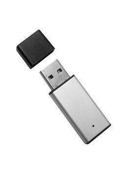 Mini Pen Drive 16GB  Alumínio Prata com Tampa Preta Personalizado