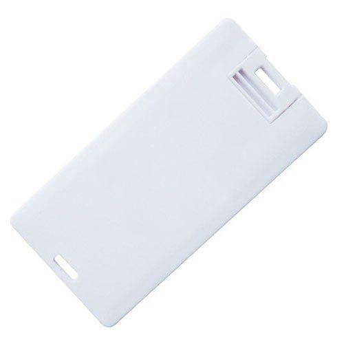 Pen Card 16GB Plástico Retangular Pequeno Branco Personalizado