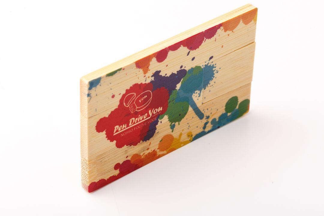 Pen Card 16GB Retangular Madeira Maple Personalizado