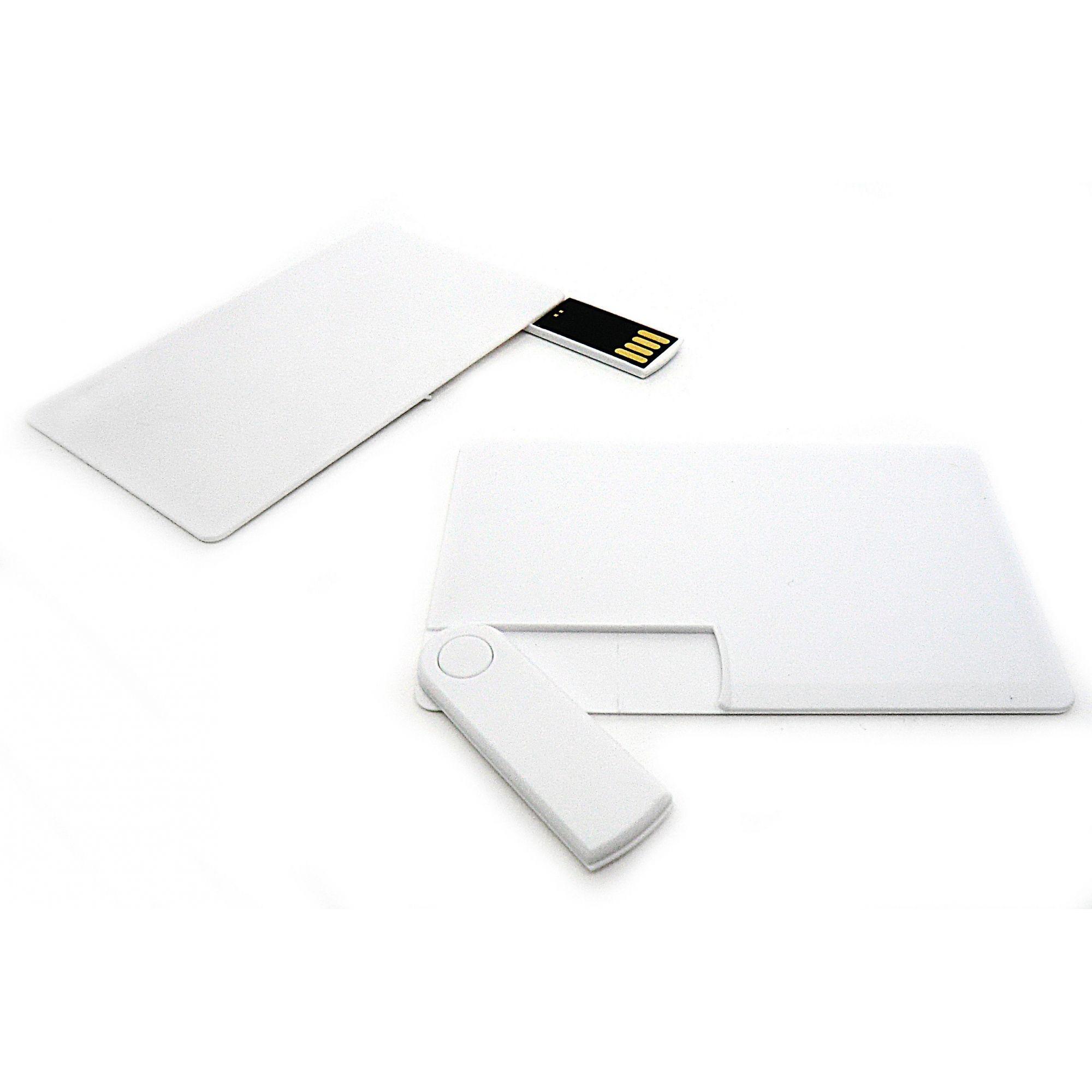 Pen Card 32GB Plástico Branco Retangular Canivete Personalizado