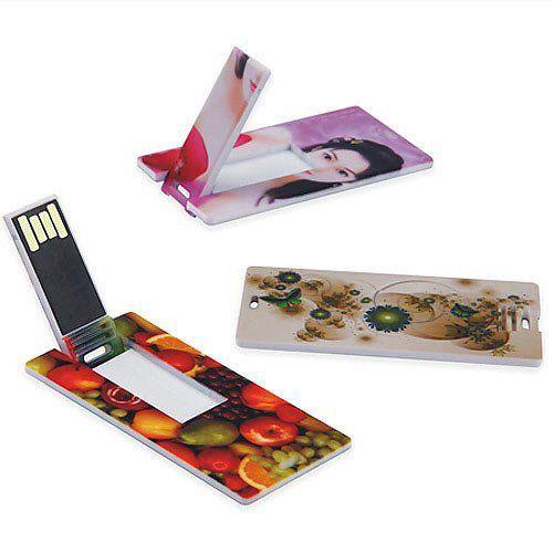 Pen Card 32GB Plástico Retangular Pequeno Branco Personalizado